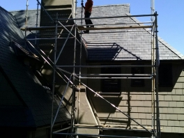 chimney-scaffold-tile-roof